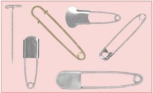 Safety pins, Marking pins, T-pins
